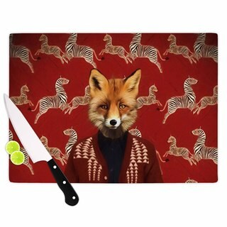 Kess InHouse Natt 'Family Portrait N1' Red Fox Cutting Board