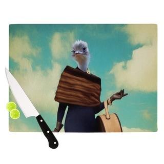 Kess InHouse Natt 'Passenger 1A' Ostrich Cutting Board