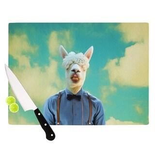 KESS InHouse Natt 'Passenger 19H' Tan Teal Cutting Board