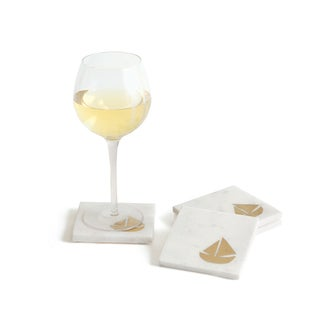 Hip Vintage Schooner Coasters (Pack of 4)