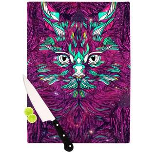 Kess InHouse Danny Ivan Space Cat Glass Cutting Board