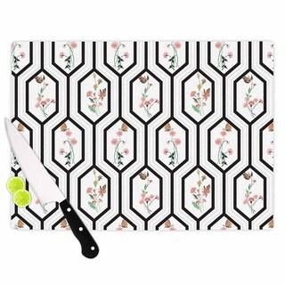 Kess InHouse DLKG Design 'Eden' Black and Gold Cutting Board
