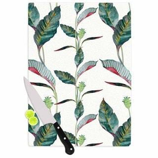 Kess InHouse DLKG Design 'Ana' Black Green Olive Cutting Board