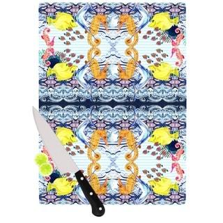 Kess InHouse DLKG Design 'Marine Life' Blue Glass Cutting Board