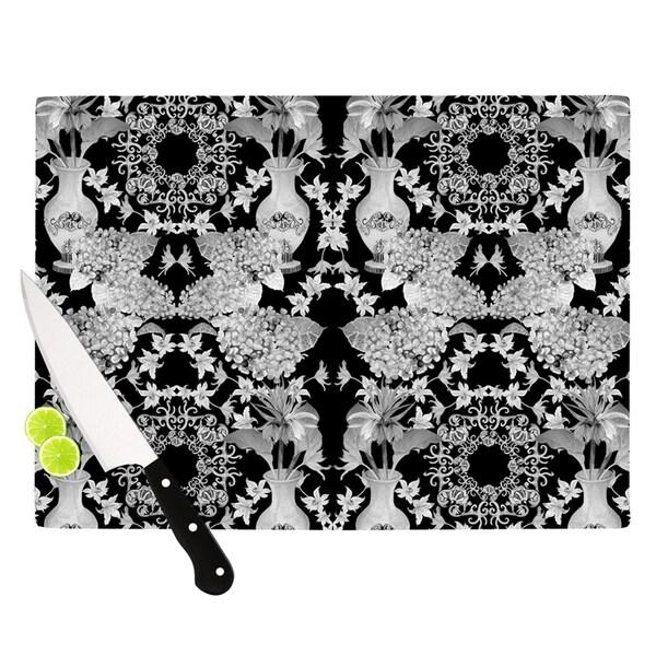 Kess InHouse DLKG Design 'Versailles Black' Glass Cutting Board