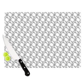 Kess InHouse DLKG Design 'Deer Deer' Black and White Glass Cutting Board
