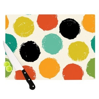 KESS InHouse Daisy Beatrice 'Retro Dots' Circles Cutting Board