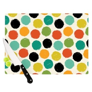 Kess InHouse Daisy Beatrice 'Retro Dots Repeat' Multicolored Cutting Board