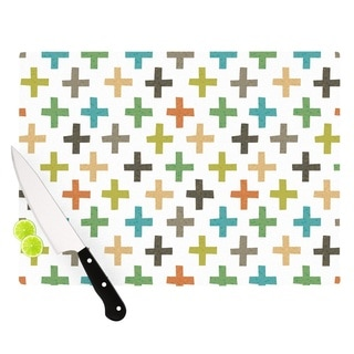 Kess InHouse Daisy Beatrice 'Hipster Crosses Repeat' Multicolored Cutting Board