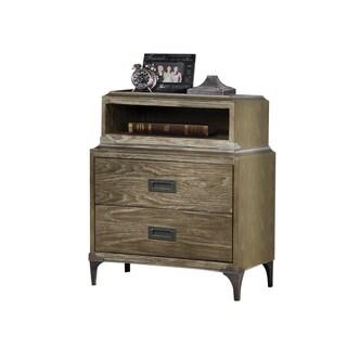 Acme Furniture Athouman Weathered Oak Veneer and Pine Wood 2-drawer Nightstand with Charging Dock