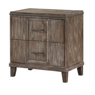 Acme Furniture Bayonne Burnt Oak 2-Drawer Nightstand With Charging Dock