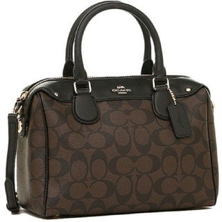 Coach F36702 Mini Bennett Signature Brown/ Black Satchel