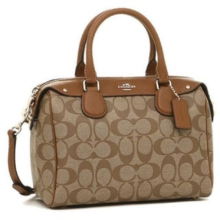 Coach F36702 Mini Bennett Signature Khaki Saddle Satchel