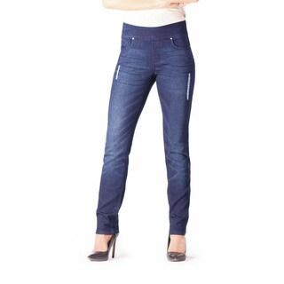 Bluberry Women's Mia Rinse Blue Slim-leg Denim Jeans (As Is Item)