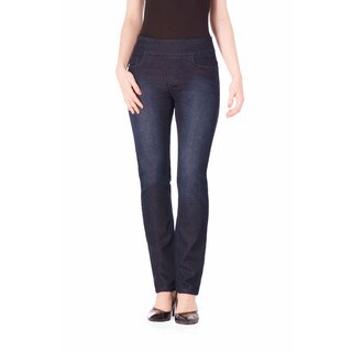 Bluberry Women's Sheri Dark Blue Cotton, Polyester, and Spandex Plus-size Slim-fit Denim