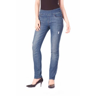 Bluberry Women's Laura Medium Blue Slim Leg Denim Jeans