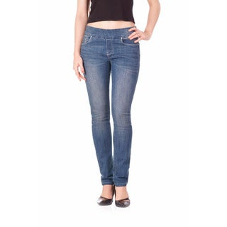 Bluberry Women's Hollie Medium Blue Denim Slim Fit Jeans