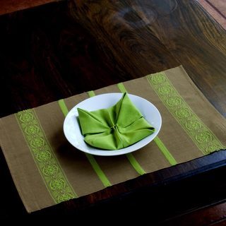 Set for 4 Handmade Cotton 'Highland Mystique' Placemats and Napkins (Guatemala)