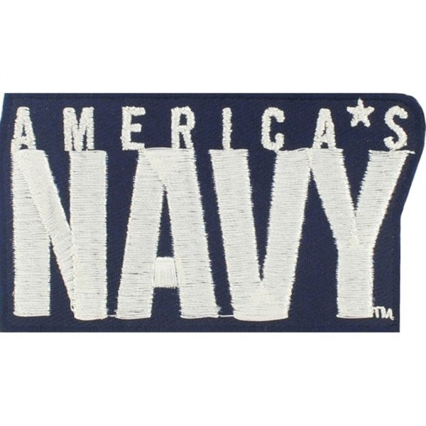 America's Navy Embroidered Blue Polyester and Rayon Iron-on Patch