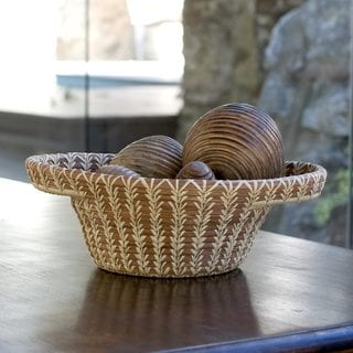 Handcrafted Natural Fiber 'Solola Forest' Basket (Guatemala)