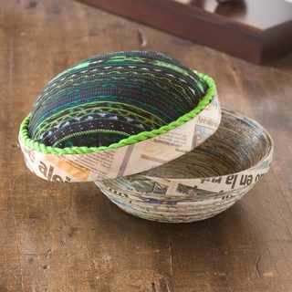 Handcrafted Recycled Paper 'San Lucas Jade' Decorative Box (Guatemala)