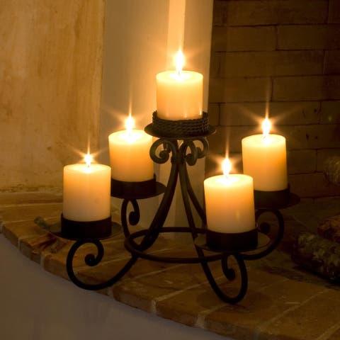 Handmade Forged Iron 'Light of Guatemala' Candleholder (Guatemala)