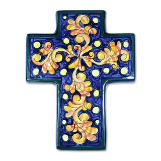 Handcrafted Ceramic 'Inspiration' Cross Sculpture (El Salvador)