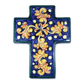 Handcrafted Ceramic 'Inspiration' Cross Sculpture (El Salvador)