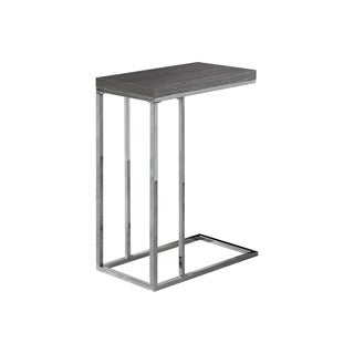 Monarch Grey Laminate and Chrome Metal Accent Table
