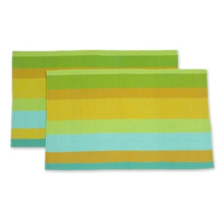 Set of 2 Handcrafted Cotton 'Chimaltenango' Hand Towels (Guatemala)