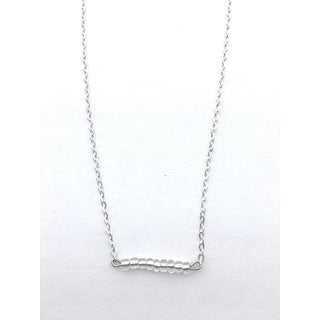 Clear Beaded Bar Necklace