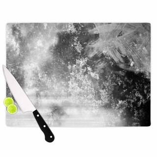 KESS InHouse Chelsea Victoria 'Black Ice' Grey Black Cutting Board