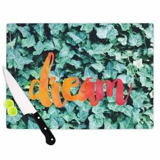 KESS InHouse Chelsea Victoria 'Dream' Green Typography Cutting Board