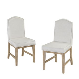 Classic Dining Set of Upholstered Chairs in White Wash Finish by Home Styles