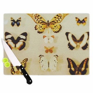 KESS InHouse Chelsea Victoria 'The Butterfly Collection' Photography Blue Cutting Board