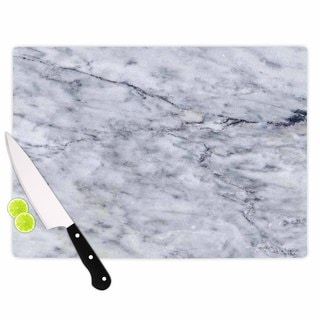 KESS InHouse Chelsea Victoria 'Marble' Blue Black Cutting Board