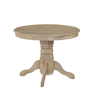 Classic Pedestal Dining Table in White Wash Finish by Home Styles