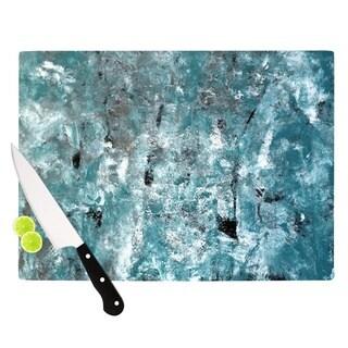 KESS InHouse CarolLynn Tice 'Shuffling' Teal Blue Cutting Board