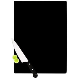 KESS InHouse CarolLynn Tice 'Stripes' Blue White Cutting Board