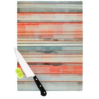 KESS InHouse CarolLynn Tice 'Patton' Orange Teal Cutting Board