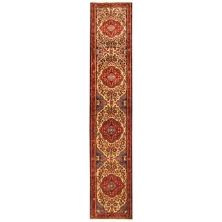 Herat Oriental Persian Hand-knotted Tribal Hamadan Wool Runner (2'6 x 13'2)