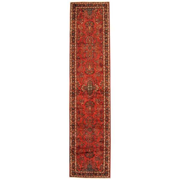 Handmade Herat Oriental Persian Tribal Hamadan Wool Runner (Iran) - 2'10 x 12'4