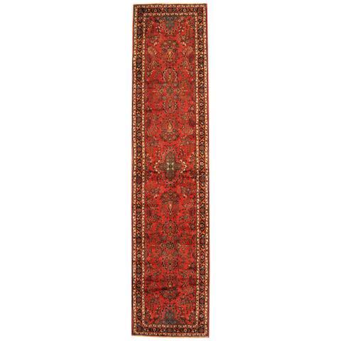 Handmade Hamadan Wool Runner (Iran) - 2'10 x 12'4