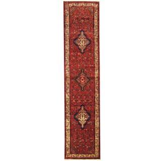 Handmade One-of-a-Kind Hamadan Wool Runner (Iran) - 2'10 x 12'6