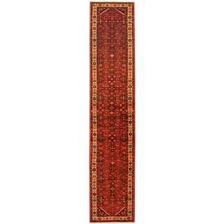 Herat Oriental Persian Hand-knotted Tribal Hamadan Wool Runner (2'8 x 13'3)