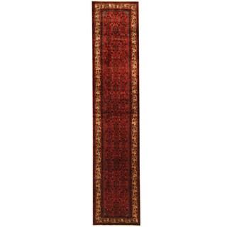 Herat Oriental Persian Hand-knotted Tribal Hamadan Wool Runner (2'9 x 13'1)