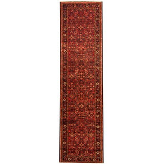 Herat Oriental Persian Hand-knotted Tribal Hamadan Wool Runner (3'9 x 14')
