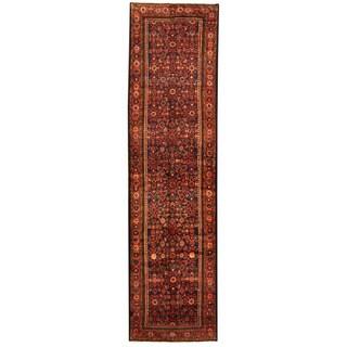 Handmade Herat Oriental Persian Tribal Hamadan Wool Runner (Iran) - 3'7 x 14'1