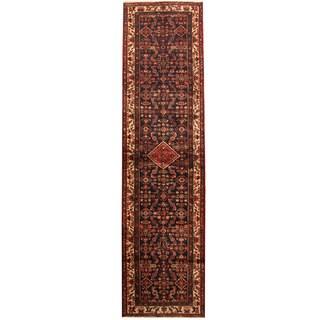 Herat Oriental Persian Hand-knotted Tribal Hamadan Wool Runner (3'5 x 13'3)