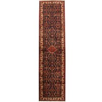 Handmade Herat Oriental Persian Tribal Hamadan Wool Runner (Iran) - 3'5 x 13'3